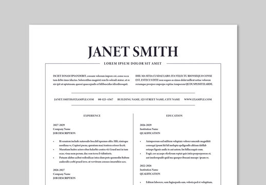 Modern and Clean Resume Layout