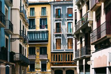 Apartment buildings in Pamplona, Spain