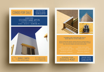 Gold Real Estate For Sale Postcard Layout