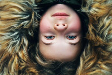 Girl in fur hood