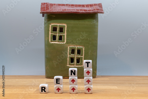 Symbol for rent increases  Dice form the word