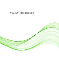 Abstract vector background with smooth color wave. Smoke wavy lines, vector