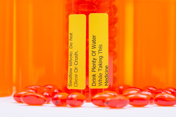 Docusate. Swallow whole Do not chew or crush Drink plenty of water while taking this medicine LABELS