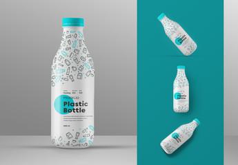 Plastic Bottle Mockup Set