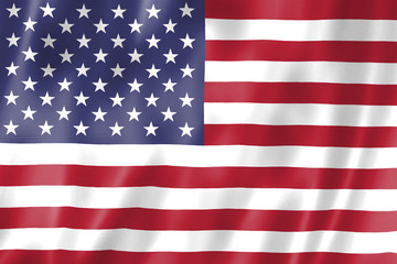 Flag Of The United States Of America. Illustration. Vector.