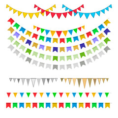 Carnival garlands with pennants