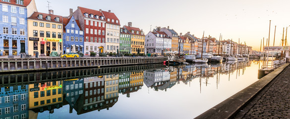 Morning in the Copenhagen Canal Nyhavn
