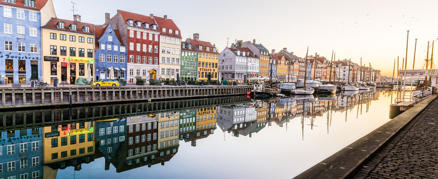 Morning in the Copenhagen Canal Nyhavn