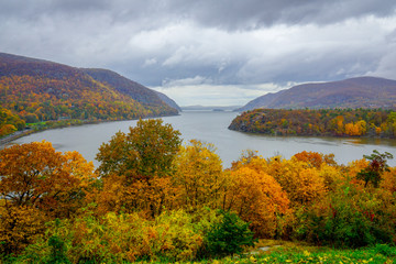 Hudson River from West Point in Autumn