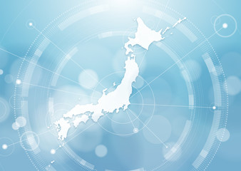 Global Image, Map of Japan, Vector Graphics