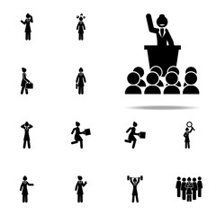 businesswoman, politician icon. businesswoman icons universal set for web and mobile