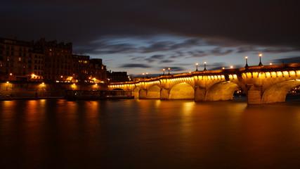 Paris, France - February 2, 2019: Pont Neuf bridge is the oldest bridge in Paris