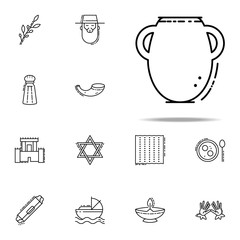 Manna jar icon. Judaism icons universal set for web and mobile