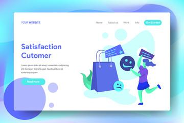 Landing Page Satisfaction Customer