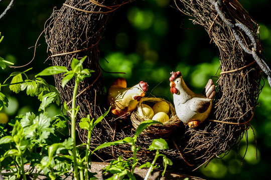 chicks in nest, digital photo picture as a background