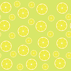 Seamless pattern lemons with half
