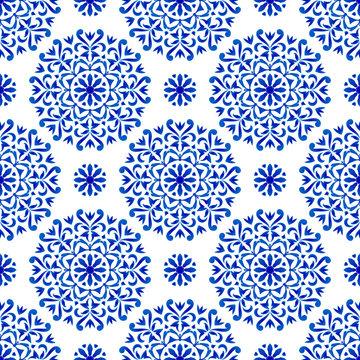 decorative floral blue pattern
