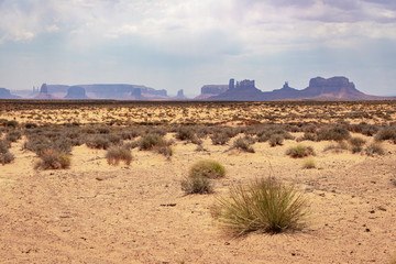 Dust storm in Monument Valley in the Arizona Strip