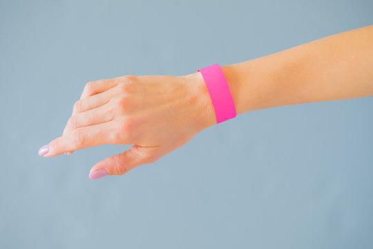 Hand with mockup wristband