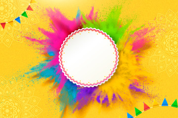 Colorful powder explosion template Wall mural