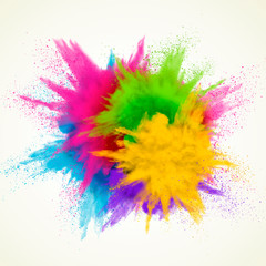 Colorful powder explosion effect