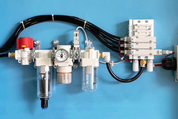 Industrial solenoid valve for liquid, oil, air, pneumatic pipe line machine. control valve by electric equipment