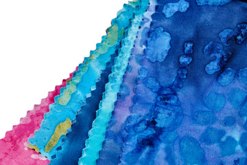 Printed roller blinds Crystals Multi-Colored Strips of Fabric