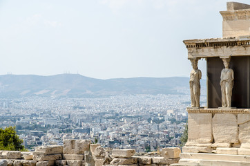 The ruins of Acropolis in Athens, Greece