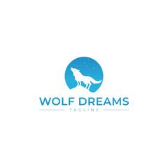 sky star wolf logo