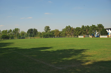 Empty football field of a small local team