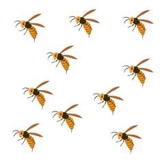スズメバチの大群