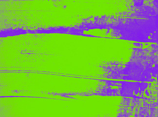 ultra violet and green paint abstract background texture with grunge brush strokes