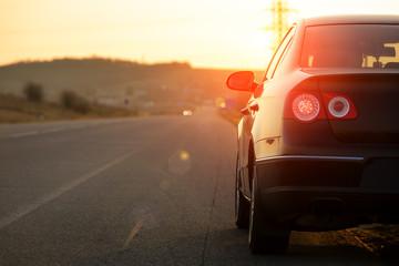 car on asphalt road