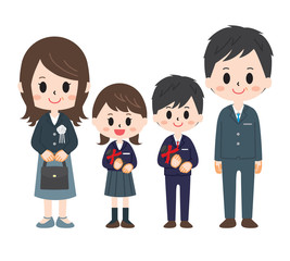 Graduation Image 4 people family
