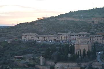 Wonderful Views Of The Neighborhood Of The Arrabal From The Colegiata Castle In Alquezar. Landscapes, Nature, History, Architecture. December 28, 2014. Alquezar, Huesca, Aragon, Spain