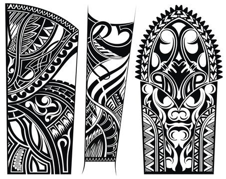 Ethnic abstract patterns.Tattoo ornament