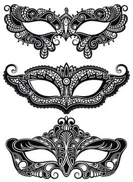 Beautiful masks of lace symbol. Mardi Gras