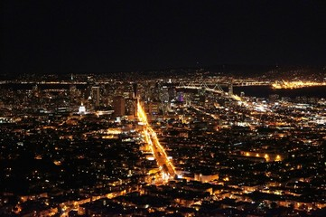 Poster de jardin Paris night San Francisco