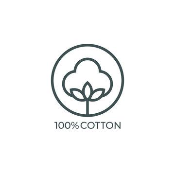 100% cotton icon. Vector illustration
