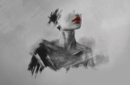 Portrait sans visage