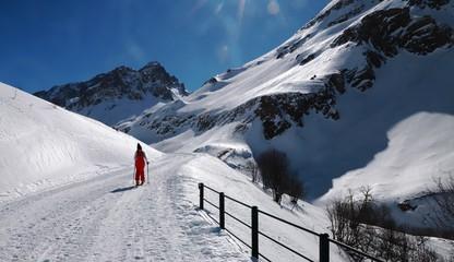 route du Galibier en hiver