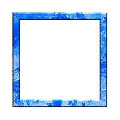 Frame on a white background. Multicolored Photo Frame