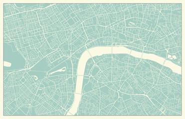 Vintage London Vector Map
