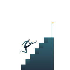 Business career ambitions and aspirations vector concept. Symbol of professional growth, development, progress and promotion.