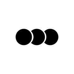 Set of circle vector icon