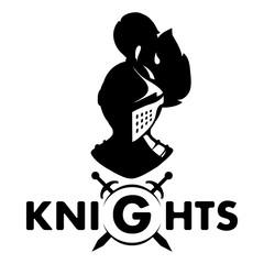 knight mascot logo, vector graphic to design