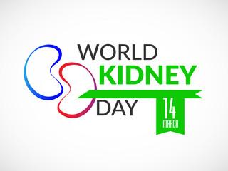 Illustration Of World Kidney Day Poster Or Banner Background. - Vector