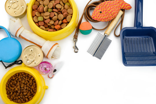 Pet toys, food and accessories