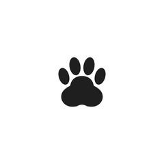 Paw of animal vector icon