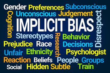 Implicit Bias Word Cloud